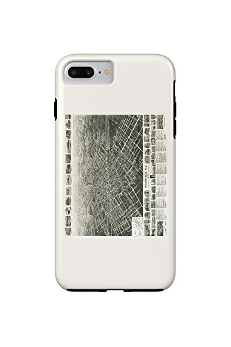 westfield-new-jersey-panoramic-map-iphone-7-plus-cell-phone-case-tough