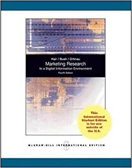 Marketing Research (Int'l Ed) (Asia Higher Education Business & Economics Marketing)