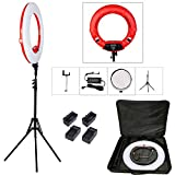 Yidoblo18 Dimmable Fluorescent Ring Light Kit: 96W 5500K Ring Light, Light Stand, Soft Tube, Filter and Bag for Photography YouTube Self Video Make-up (FD-480 II kit)