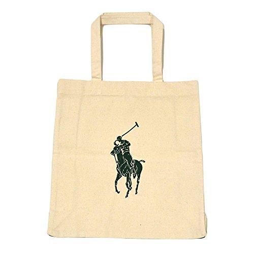 Polo Ralph Lauren Big Pony Canvas Tote (Khaki) (Handbags Polo Ralph Lauren)
