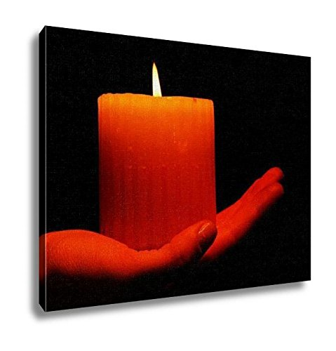 Ashley Canvas, Burning Candle In Hand Isolated On Black, Home Decoration Office, Ready to Hang, 20x25, AG6514255 by Ashley Canvas