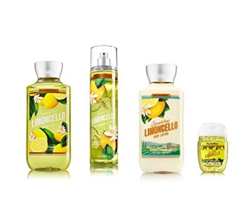 Bath and Body Works – Signature Collection Sparkling Limoncello – Shower Gel – Fine Fragrance Mist- Body Lotion – PocketBac Sanitizing Hand Gel PocketBac holder