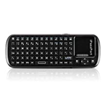 3 in 1 Mini Wireless Bluetooth Keyboard Touchpad with Smart PC Google TV Remote