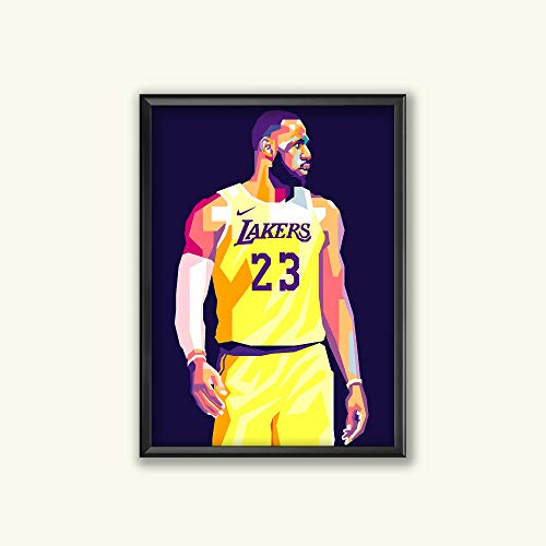 Poster Los Angeles Lakers Basketball - Lebron James Limited Edition Lakers Poster Wall Art Wall Merchandise (Additional Sizes) (8x10)