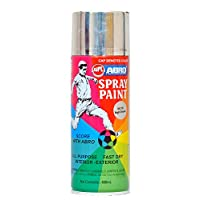 Abro Colour Spray Paint (400ml, Bright Chrome)