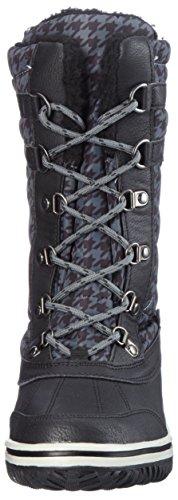 Snow Kangaroos Jet Steel Women's Schwarz Grey Boots Rivaska Black wqERqSU