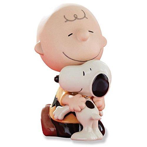 Lenox Peanuts Lots Of Hugs Figurine Charlie Brown Snoopy Best Friend Dog Boy
