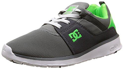DC Shoes Heathrow B - Zapatillas de Deporte Niños Gris - gris (Grey/White/Green)