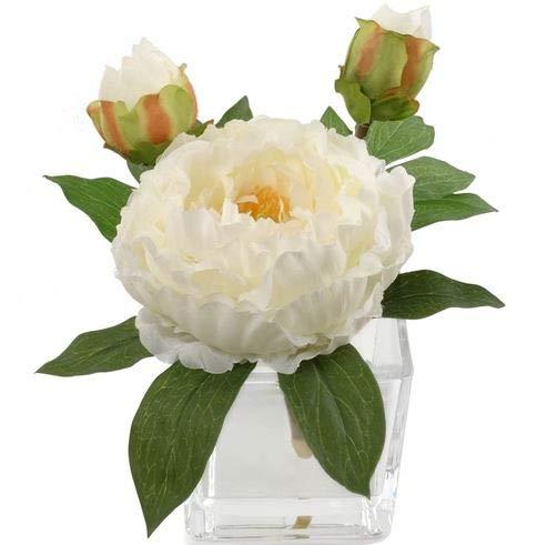 Handcrafted Artificial Peony Silk Flower Arrangement in Vase | Real Look