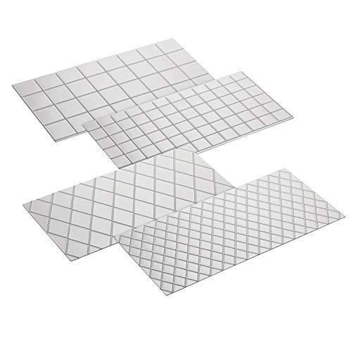 Fyuan Plastic lmprint Mat Set for Cake Decoration Quilt and Square Patterns, Set of ()