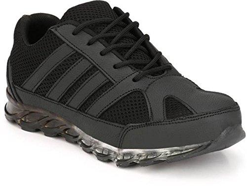 Wave Walk zapatillas de piel de color negro botas de seguridad con puntera de acero tobillo