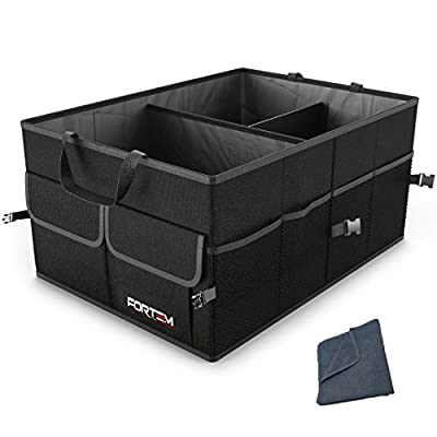 FORTEM Car Trunk Organizer for SUV Truck | Auto Durable Collapsible Cargo Storage | Non Slip Bottom Strips to Prevent Sliding from FORTEM