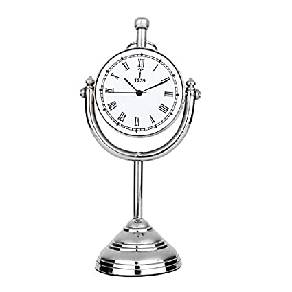 11b343edf Wrap Your Wish Nickel Finish Desk Clock with Stand  Amazon.in  Home    Kitchen