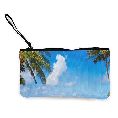 (Coin Purse Hawaii Beaches for Family Fun Ladies Zipper Canvas Purse Wallet TravelStylish)