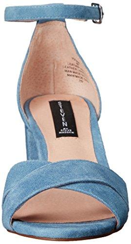 Steve Madden Steven by Women's Voomme Dress Sandal, Black, US Blue Suede
