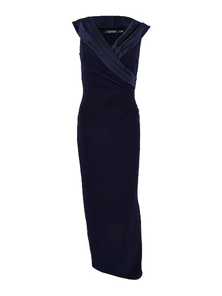 dda90ba04a1 Lauren by Ralph Lauren Women s Satin-Neckline Column Gown (18