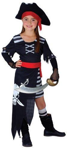 Pirate Princess Girls Fancy Dress Costume (11-13)