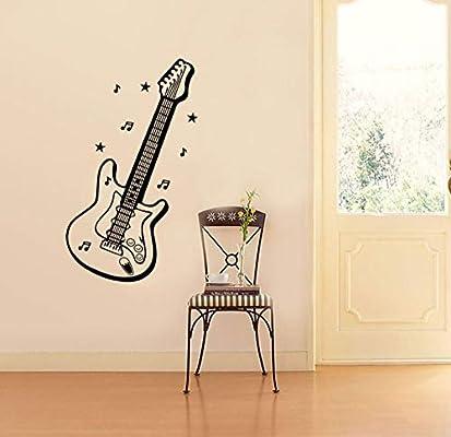 Pegatinas De Paredmúsica Guitarra Pegatinas De Pared Dibujos ...
