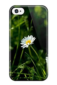 High Quality Daisy In The Grass Nature Flower Case For Iphone 4/4s / Perfect Case