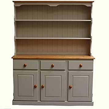 Wye Pine 4ft 6 Cream Welsh Dresser Cream Amazon Co Uk Kitchen