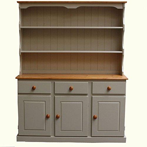 Wye Pine Cream Welsh Dresser - Finish Complete - Cream