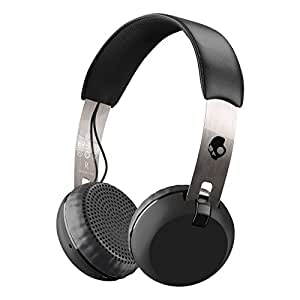 Skullcandy Grind Bluetooth Wireless On-Ear Headphones with Built-In Mic and Remote, 12-Hour Rechargeable Battery, Supreme Sound Audio, Plush Ear Pillows for Comfort