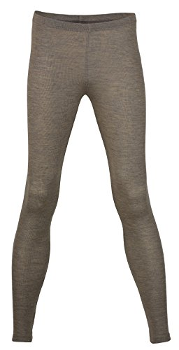 Walnut Autumn (EcoAble Apparel Women's Thermal Leggings Pants Base Layer, Organic Merino Wool Silk Blend (42-44 / Medium, Walnut))