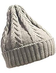 75f7d4ee83524 aliveGOT Men Women Classic Warm Winter Hats Thick Knit Cuff Beanie Cap Baggy  Slouchy Beanie Hat