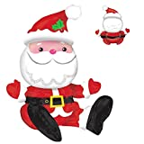 19' Sitting Santa Balloon Claus Father Christmas Foil Air Xmas Office Party Decoration Table Centerpiece Kids Adults Festive Inflatable