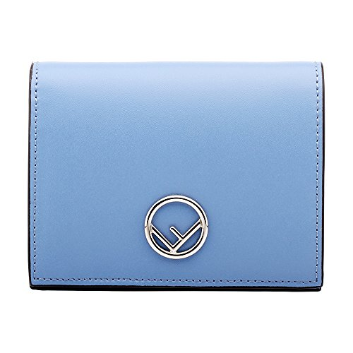 Fendi Handbag Blue (Fendi Bifold Ladies Small Light Blue Leather Compact Wallet 8M0387A0KKF0V1A)