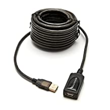 BlueRigger 32 feet  USB 2.0 Type A Male to A Female Active Extension / Repeater Cable -  (10M)