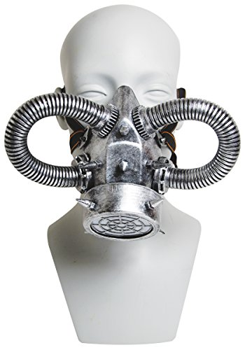 Silver Gas Mask Halloween Party Mask Accessory -