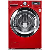 LG WM3370HRA 4.3 Cu. Ft. Wild Cherry Red Stackable With Steam Cycle Front Load Washer - Energy Star