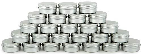 Vivaplex, 25, Aluminum, 10 Gram, Tin Jars with Lids