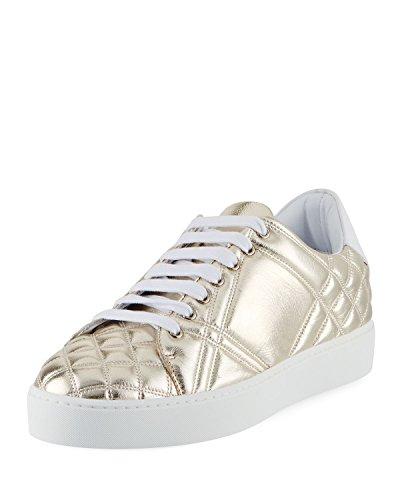 Sneaker Bassa In Pelle Trapuntata Metallizzata Trapuntata Da Burberry Westford