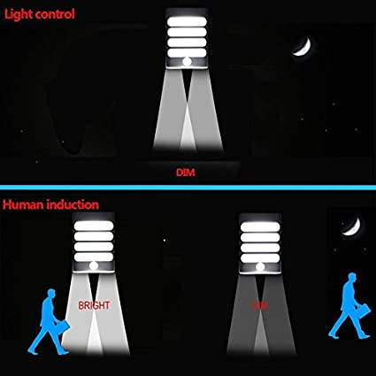 Pathway OWIKAR Motion Sensor Activated LED Wall Light Staircase Warm White Aluminum Stick Anywhere Bright LED Wall Sconce Night Light Battery Operated Auto On//Off for Hallway Closet Garden