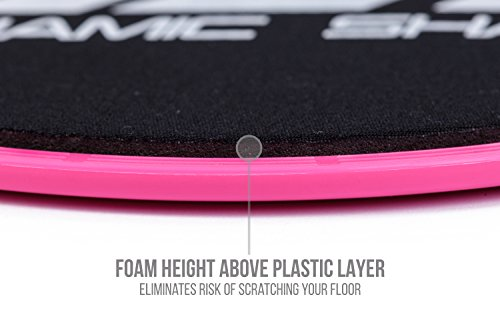 Core Exercise Sliders Gliding Discs, Pink Sliding Home/Gym Full Body Workout Training Fitness Equipment Slide/Glide Tone & Strengthen Abdominal and Gluteal Muscles Dual Sided for all floor types