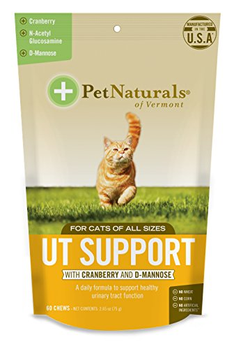 - Pet Naturals of Vermont - UT Support for Cats, Urinary Tract Supplement, 60 Bite-Sized Chews