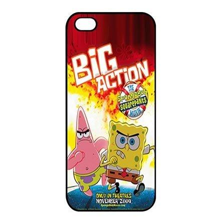 Athletic Design Spongebob iPhone 5C Black Snap On Cases - Custom iPhone 5C Carring (Spongebob Cast Costumes)