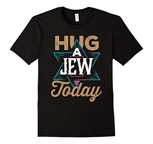 Mens Hug a Jew Today Funny Passover Christmas Easter T Shirt Small -