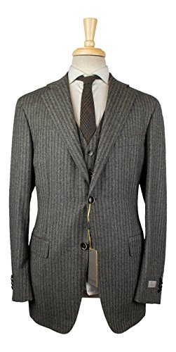 Used, Canali Kei' Gray Cashmere Blend 2 Button 3 Piece Suit for sale  Delivered anywhere in USA