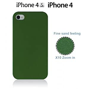 OnlineBestDigital - Frosted Surface Hard Back Plastic Case for Apple iPhone 4S / Apple iPhone 4 - Green