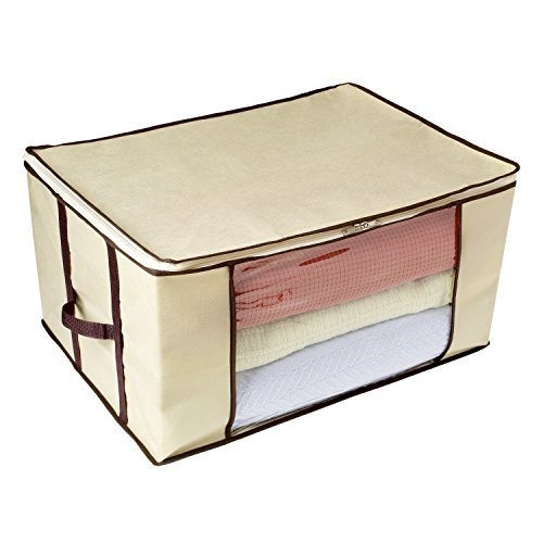 Ziz Home Blankets Clothes Storage Bag Breathable Anti-Mold Material Closet Organization Used for Linen Storage Blanket Storage Sweater Storage Duvet Storage Bags Eco-Friendly Clear Transparent Window ()