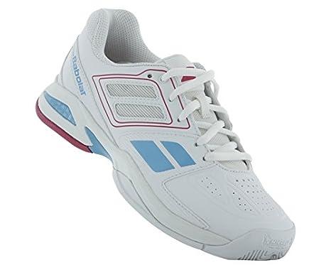 3a25cd3251411 Babolat Junior Propulse Team BPM AC Tennis Shoes (White/Pink) (1 US)