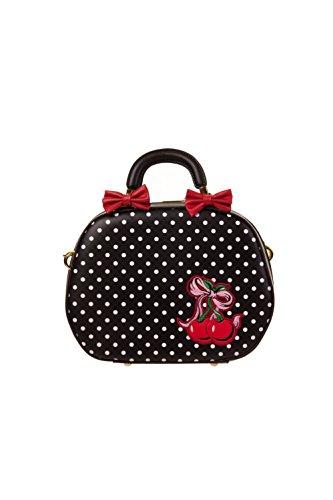 Prohibido bolso de mano la ropa en forma de cerezas LUCILLE PVC bolsa para raquetas de tenis Rockabilly diseño de lazos de diseño de flores y lunares