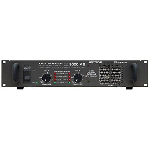 Amplificador 2250W RMS 4 Ohms - W POWER II 9000 AB Ciclotron