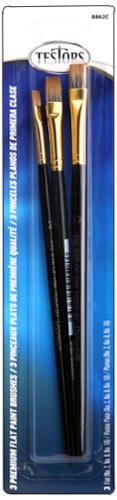 ck Flat Sable Paint Brushes, Black (Model Master Paint Brush)