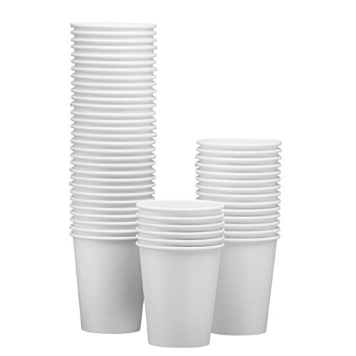 NYHI 200-Pack 8 oz White Paper Disposable Cups - Hot/Cold Beverage Drinking Cup for Water, Juice, Coffee or Tea - Ideal for Water Coolers, Party, or Coffee On the Go' from NYHI