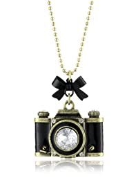 "Betsey Johnson""Royal Engagement"" Large Camera Long Pendant Necklace"