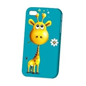 Case Fun Apple iPhone 4 / 4S Case - Vogue Version - 3D Full Wrap - Giraffe